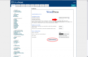 Bluehost WordPress Installation - Configuration