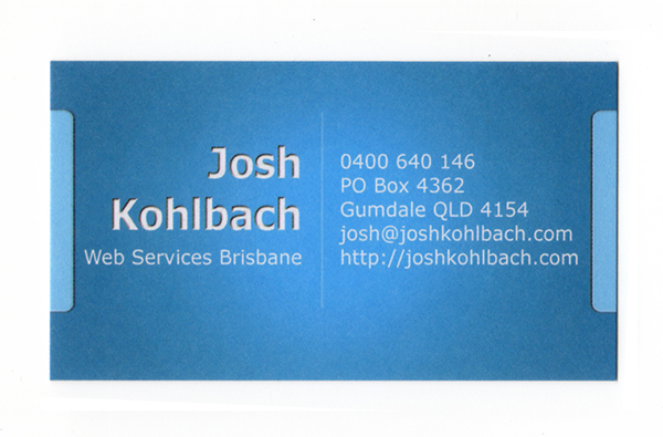 Josh Kohlbach Business Card