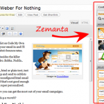 Zemanta In My Wordpress Sidebar