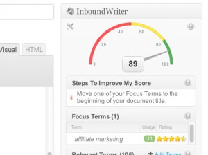 InboundWriter Automatic Suggestions